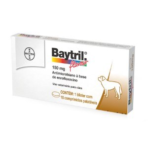 Bayer Baytril Flavour 150MG C/ 10 Comprimidos