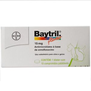 Bayer Baytril Flavour 15MG C/ 10 Comprimidos