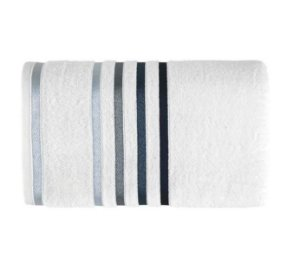 Karsten Toalha Banho Lumina Branca/Azul