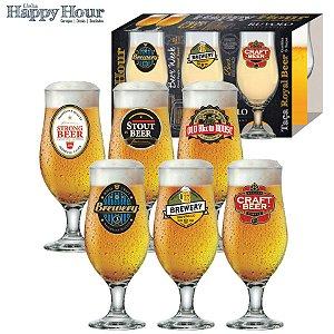 Ruvolo Jogo de Taças Royal Beer Happy Hour 330ml 6Pçs