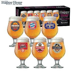 Ruvolo Jogo de Taças Beer Master 380ml 6Pçs