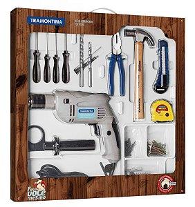 Tramontina Kit Ferramentas 100Pçs C/ Furadeira Elétrica 500W
