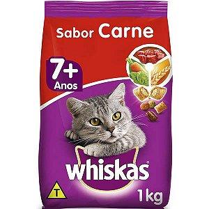 Whiskas Dry Adulto 7+ Carne 1KG