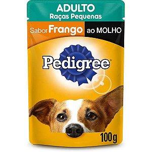 Pedigree Sachê Adulto Raças Pequenas Frango 100GR