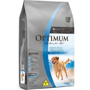 Optimum Dry Dog Adulto Raças Médias e Grandes Frango Arroz 15KG