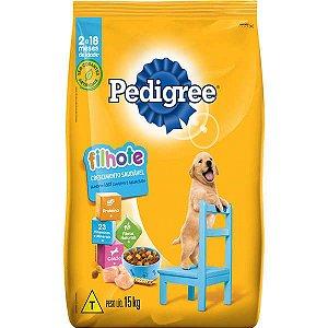 Pedigree Ração Seca Cães Filhotes Raças Médias e Grandes 15KG