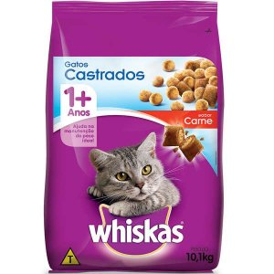 Whiskas Gatos Castrados Adulto Carne 10,1KG