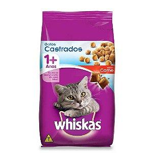 Whiskas Gatos Castrados Adulto Carne 3KG