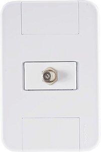 Tramontina Conjunto 4x2 C/ 1 Tomada TV/SAT Coaxial Tablet Branco