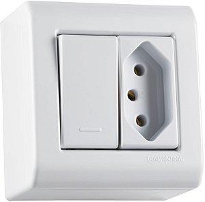 Tramontina LizFlex Caixa de Sobrepor C/ 1 Interruptor Simples 10A