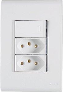 Tramontina Liz 1 Interruptor Simples 10A 2 Tomada 2P+T 10A