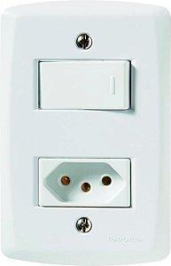 Tramontina Luz Interruptor Simples C/ Tomada 10A