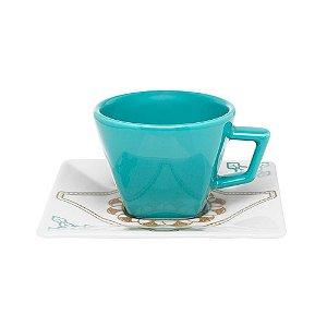 Oxford Xícara de Chá C/ Pires Quartier Domo 200ml