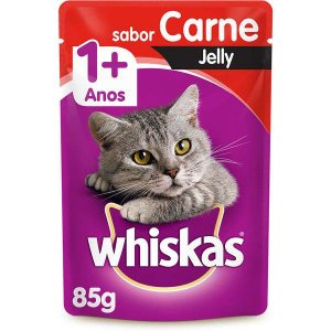 Whiskas Sachê Gato Adulto Jelly Carne 85G