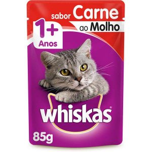 Whiskas Sachê Adulto Carne 85g