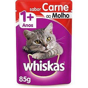 Whiskas Sachê Adulto Carne 85g