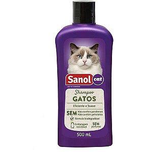 Sanol Shampoo Gatos 500mL
