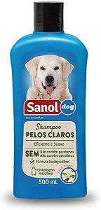 Sanol Dog Shampoo Pelos Claros 500mL