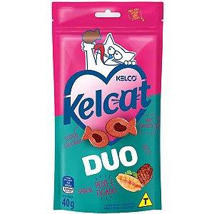 Kelcat Snack Duo Peixe e Fígado 40g