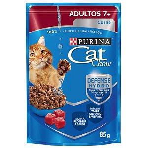 Purina Sachê Cat Chow Adulto 7+ Carne ao Molho 85g