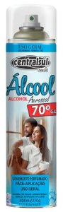 Centralsul Álcool Spray Aerossol 400mL