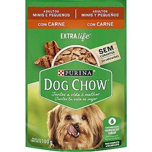 Purina Dog Chow Adulto Raças Pequenas e Minis Carne 100g