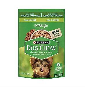 Purina Dog Chow Filhote Raças Pequenas Carne/Leite/Arroz 100g