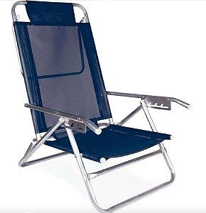 Mor Cadeira Reclinável Alumínio 5 Posições Azul