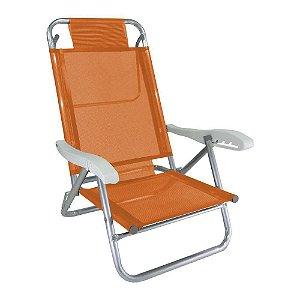 Zaka Cadeira Banho de Sol Laranja Cítrica