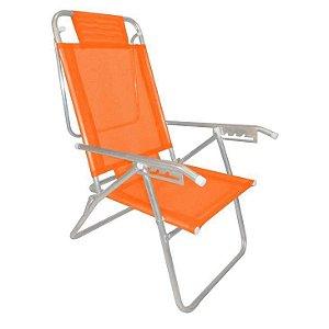 Zaka Cadeira de Praia Up Laranja Cítrica