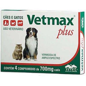 Vetmax Vermífugo Vetnil Plus 700mg