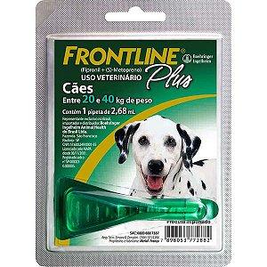 Frontline Plus Antipulgas e Carrapatos para Cães 20 a 40 Kg