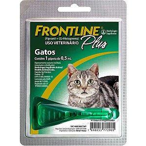 Frontline Antipulgas e Carrapatos Plus para Gatos 0,5mL