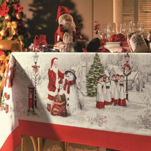 Toalha de Mesa Natalina Melodia de Natal Retangular