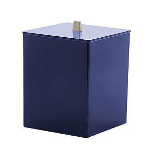Paramount Lixeira Quadratta Azul Marinho Bagno