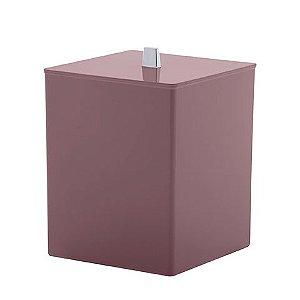 Paramount Lixeira Quadratta Rosa Bagno