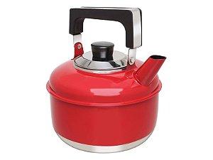Ravinox Chaleira Inox 2 L Colors Vermelha