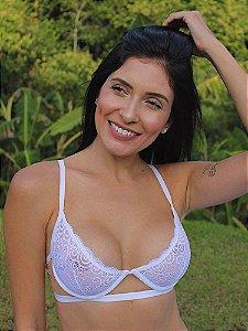 Sutiã Meia Taça Jasmin Branco