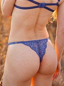 Calcinha semi fio Jasmin Azul