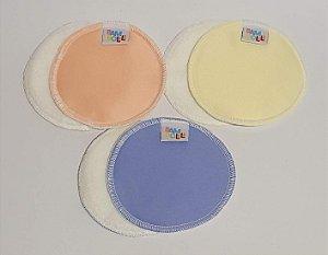 Kit com 3 pares de absorvente de amamentação