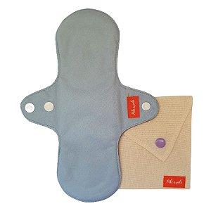 Absorvente menstrual reutilizável M Azul