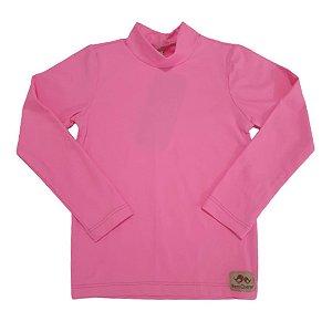 Camisa com proteção UV50+ rosa chiclete