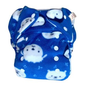 Fralda noturna Azul com bichinhos
