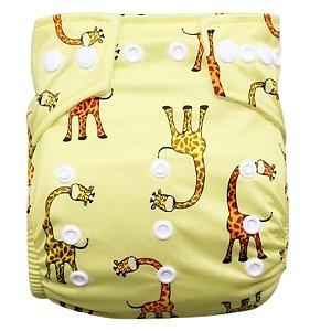 Fralda girafa amarela