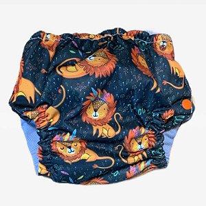 Fralda aquática/treinamento Leão com absorvente
