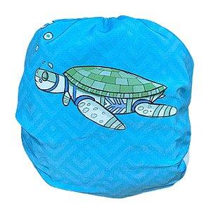 Coleção Fauna Brasileira em Extinção - Fralda de bolso diurna Tartaruga