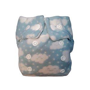 Fralda RN Nuvens Azul