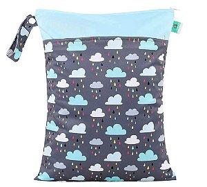 Sacola impermeável com bolso duplo Nuvens