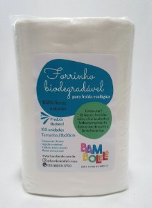 Forrinho biodegradável - rolo com 100 unidades