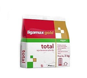 Rejunte Eliane Ligamax Total Up Cimenticio PCT 3KG Marrom